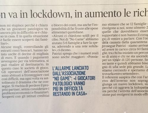 L'azzardo non va in lockdown